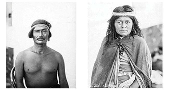 IZQ: Integrante de la tribu de Inacayal y Foyel. DER: Esposa del cacique Inacayal.