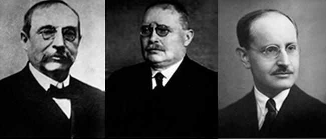 José María Ramos Mejía, ca. 1900 - Cristofredo Jakob, ca. 1920 - Pío del Río Hortega, ca. 1925.