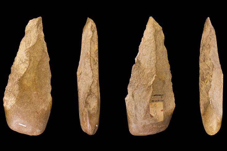 Herramientas de piedra fabricadas por antecesores del género Homo