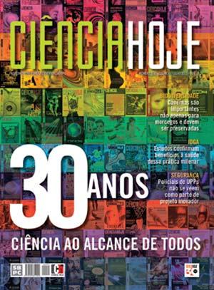 Tapa del número 294 de Ciência Hoje, de julio de 2012, celebratorio de los treinta años de la fundación de la revista.