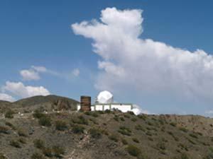 Parte de las instalaciones del complejo astronómico El Leoncito, en las proximidades de Barreal, en la provincia de San Juan.
