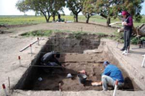 Sitio arqueológico Los Tres Cerros, en territorio de Entre Ríos del delta superior del Paraná a aproximadamente la latitud de Victoria. Foto Mariano Bonomo.