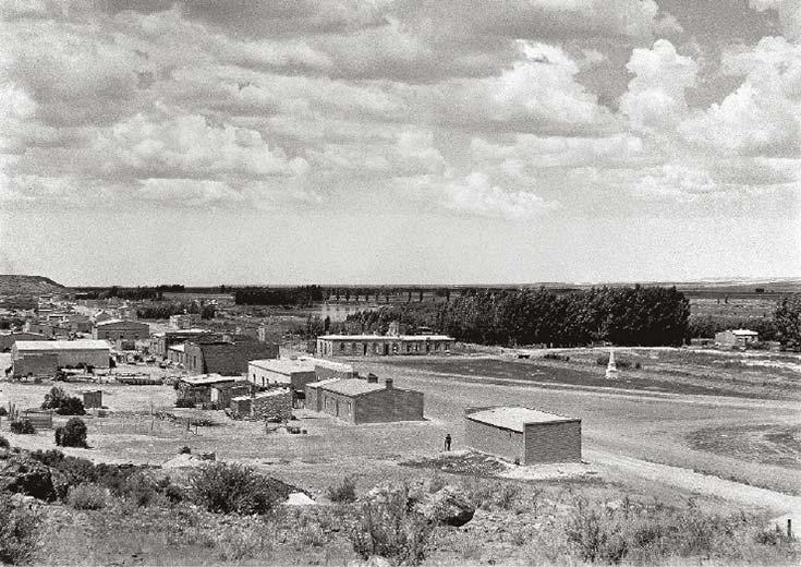 Vista de Gaiman, Chubut. Foto de HE Bowman, 1906, Museo Histórico Regional, Gaiman.