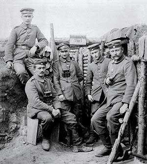 Grupo alemán de observación de artillería.