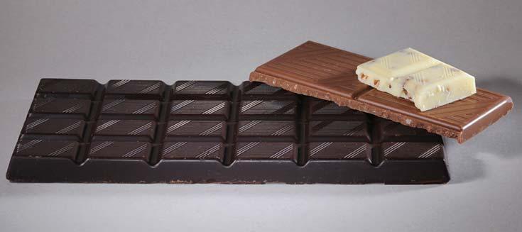 Las tres clases de chocolate.