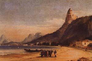 BAHIA DE BOTAFOGO, RIO DE JANEIRO. ACUARELA DE CONRAD MARTENS, SIN FECHA (S.F). STATE LIBRARY OF NEW SOUTH WALES, SYDNEY. EL ILUSTRADOR SE EMBARCO EN EL BEAGLE EN 1833, EN MONTEVIDEO. DE SU ESTADIA EN RIO, DARWIN RELATO QUE LA MUCHACHA FUEGUIA BASKET DAILY INCREASES IN EVERY DIRECTION EXCEPT HEIGHT.