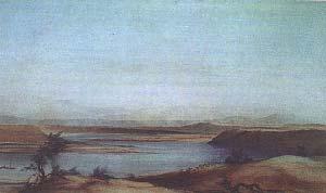 COSTAS DEL SANTA CRUZ. ACUARELA DE CONRAD MARTENS, FIRMADA C.MARTENS, SYDNEY 1836. NATIONAL MARTIME MUSEUM, LONDRES