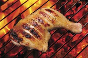 Las parrillas, los asadores y los alimentos cocinados sobre ellos reciben el calor principalmente por radiación.