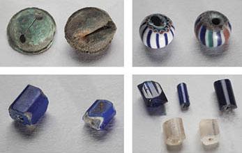 Fragmentos de cerámica europea encontrados en el sitio. Análisis realizados en la Universidad de Barcelona permitieron determinar que proceden de Sevilla