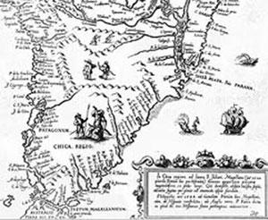 A lo largo del siglo XVI los restos del fuerte Sancti Spiritus constituyeron un punto de referencia para los navegantes europeos que remontaban el río Paraná. Su ubicación se continuó señalando en la cartografía aun después de desaparecido, como se advierte en este mapa publicado por Ulrico Schmidel en 1567.