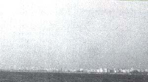 Fig.1. La Contaminación atmosférica se percibe si se mira a Buenos Aires