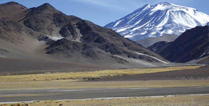 La puna en las inmediaciones de la ruta a Chile por el paso de San Francisco. Foto F Bernal