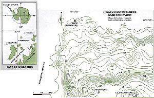 Mapa de Ubicación. Localización de Punta Cierva en el Continente Antartico