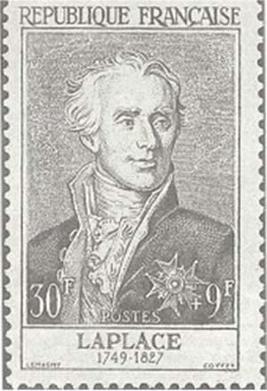 Laplace, rememorado en un sello postal francés.