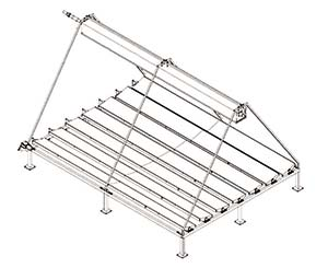 Figura 6. Esquema de un concentrador lineal Fresnel.