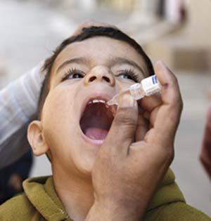 Vacuna oral Sabin contra la poliomielitis.
