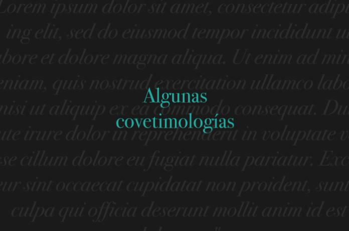 Algunas covetimologías