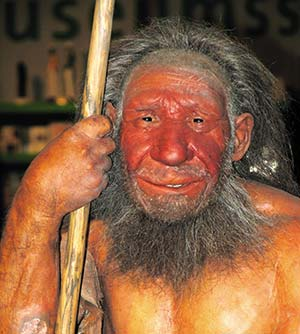 Interpretación de la apariencia de un adulto neandertal exhibida en el museo dedicado a la especie en Mettmann, Alemania. Stefanie Krull, Wikimedia Commons.