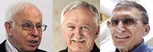 Izquierda: Tomas Lindahl. Medio: Paul Modrich. Derecha: Aziz Sancar.