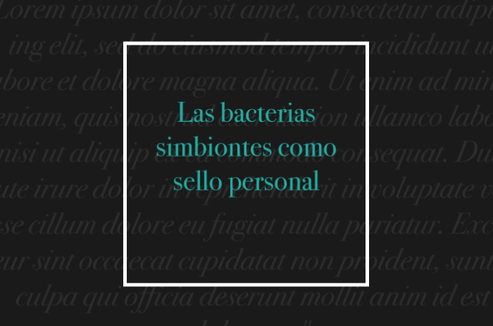 Las bacterias simbiontes como sello personal