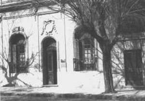 La modesta casa de Julián Álvarez donde se inaguró el Instituo.
