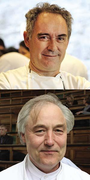 Arriba: Ferrán Adrià. Abajo: Hervé This