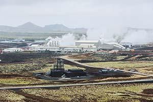 Figura 3. Fotografía de la planta de reducción de CO2 de la firma Carbon Recycling International. Está en Islandia y se vale de electricidad generada con energía hidroeléctrica y geotérmica. Foto CRI