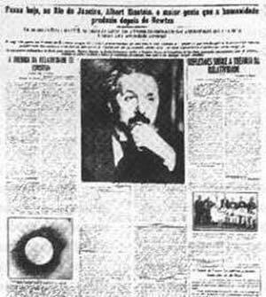 Primera plana de O Jornal del 21 de marzo de 1925