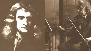Izq.: Fig 1 Sir Isaac Newton publicó su teoría de la gravitación universal en 1687. Recién 200 años más tarde fue modificada. Der.: Fig 2 Albert Einstein aún era desconocido cuando dio a conocer la teoría de la relatividad, en el comienzo del presente siglo, enfrentando las ideas newtonianas