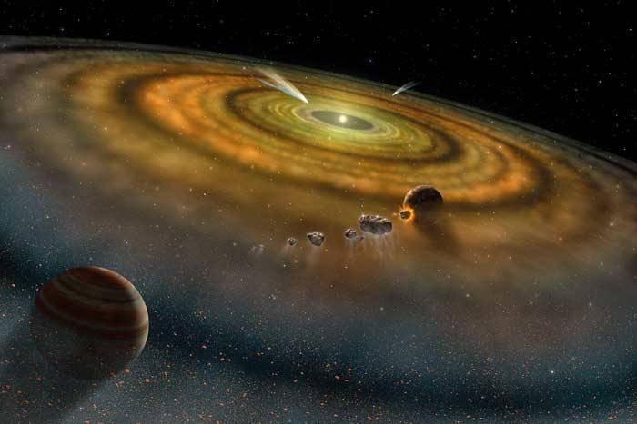 Idea acerca del origen de los planetas