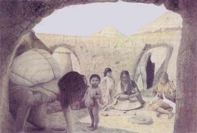 Túlor es una de las carias aldeas de agricultores que florecieron en el desierto chileno alrededor de los comienzos de nuestra era. - Tomado de Tesoros de San Pedro de Atacama - Museo Chileno de Arte Precolombino.