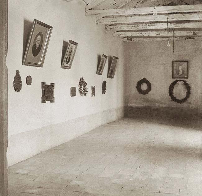 Interior del salón de la jura hacia 1900. Foto Sociedad Fotográfica Argentina de Aficionados, AGN.
