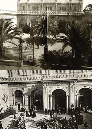 El templete visto desde afuera, ca. 1910.