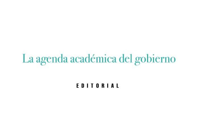 La agenda académica del gobierno