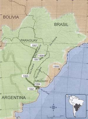 Figura 1. Cuenca del Plata y subcuencas