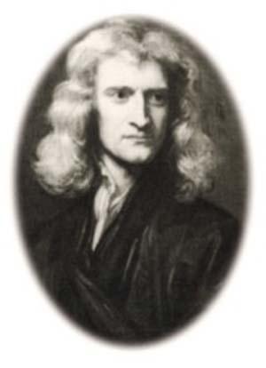 Newton a los 46 años retratado por sir Godfrey Kneller en 1689.
