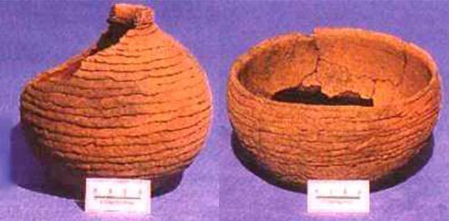 Fig 5. Pequeñas vasijas de cerámica de la tradición Pantanal.