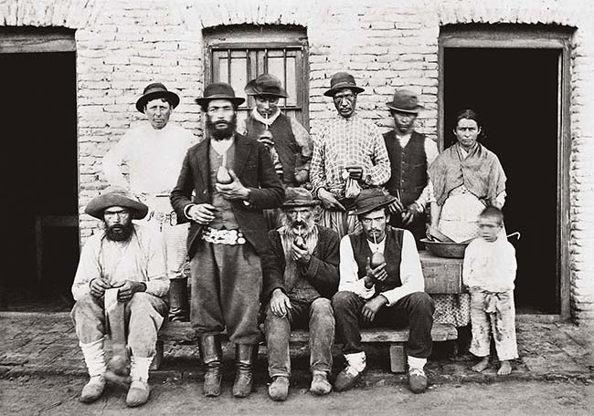 Samuel Boote, Personal de una estancia, ca. 1895. Álbum Vistas de Buenos Aires. Colección Dirán Sirinian