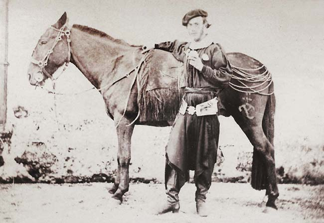 James Niven, Gaucho vasco, ca. 1870. Colección familia Niven