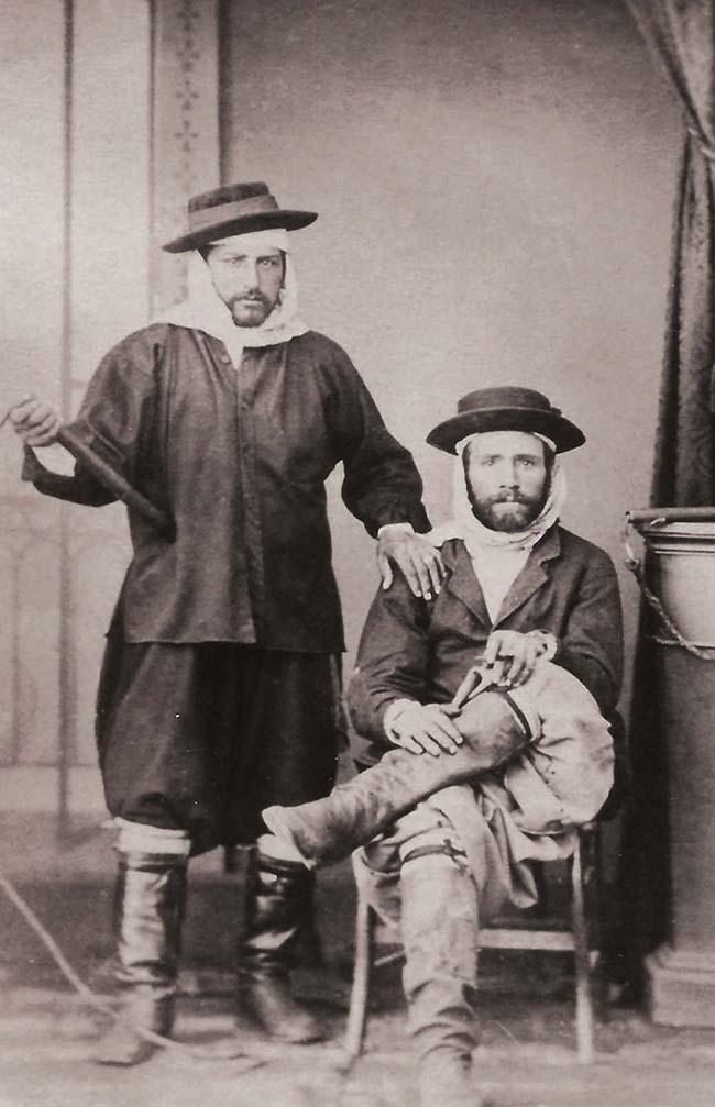 James Niven, Conductores de diligencia, ca. 1870. Colección familia Niven
