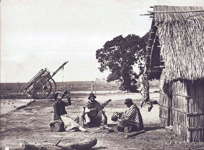 Francisco Ayerza (SFAdeA), Matando el tiempo, ca. 1890. Colección Christian Favier Dubois