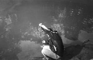 Misiones. Medida de la profundidad de entrada de luz en el río Paraná