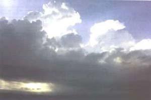 Fig3. Nubes del tipo cúmulo-congesto son formadas por la unión de muchas nubes cúmulos.