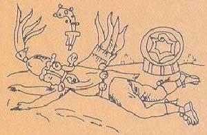 CODICE FLORENTINO : Quetzalcóatl, en su aspecto de héroe cultural yace borracho