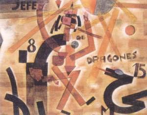 JEFE DE DRAGONES, 1923 ACUARELA SOBRE PAPEL, 26 x 32 CM COLECCIÓN PRIVADA, NUEVA YORK